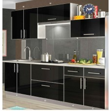 Кухня Mirror Gloss Black 2,0 и 2,6